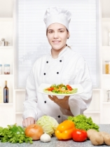 """Chef Offering Vegetarian Meal"" by marin / FreeDigitalPhotos.net"