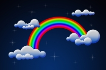 """Rainbow With Clouds""courtesy of phanlop88 / FreeDigitalPhotos.net"