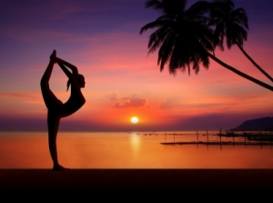 """Silhouette Girl Doing Yoga"" courtesy of ponsuwan / FreeDigitalPhotos.net"
