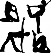 """Silhouette People Doing Yoga"" courtesy of sattva / FreeDigitalPhotos.net"