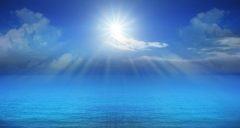 """Blue Sky Sun Beam Over Sea"" courtesy of khunaspix/ FreeDigitalPhotos.net"