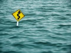 """""""Yellow Sign Of Road In Water"""" courtesy of winnond/ FreeDigitalPhotos.net"""