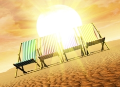 """Deck Chairs And Sun"" courtesy of Victor Habbick / FreeDigitalPhotos.net"