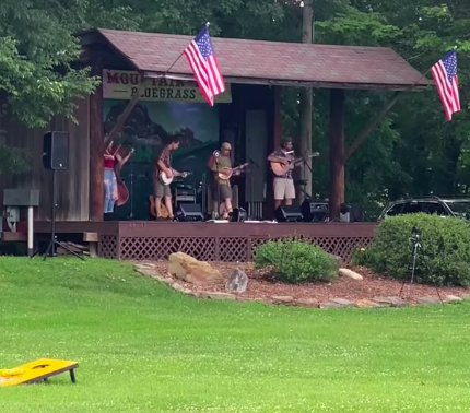 bluegrass band The Shameless Hex at Mountain Top rv campground in Pennsylvania, near Pittsburgh